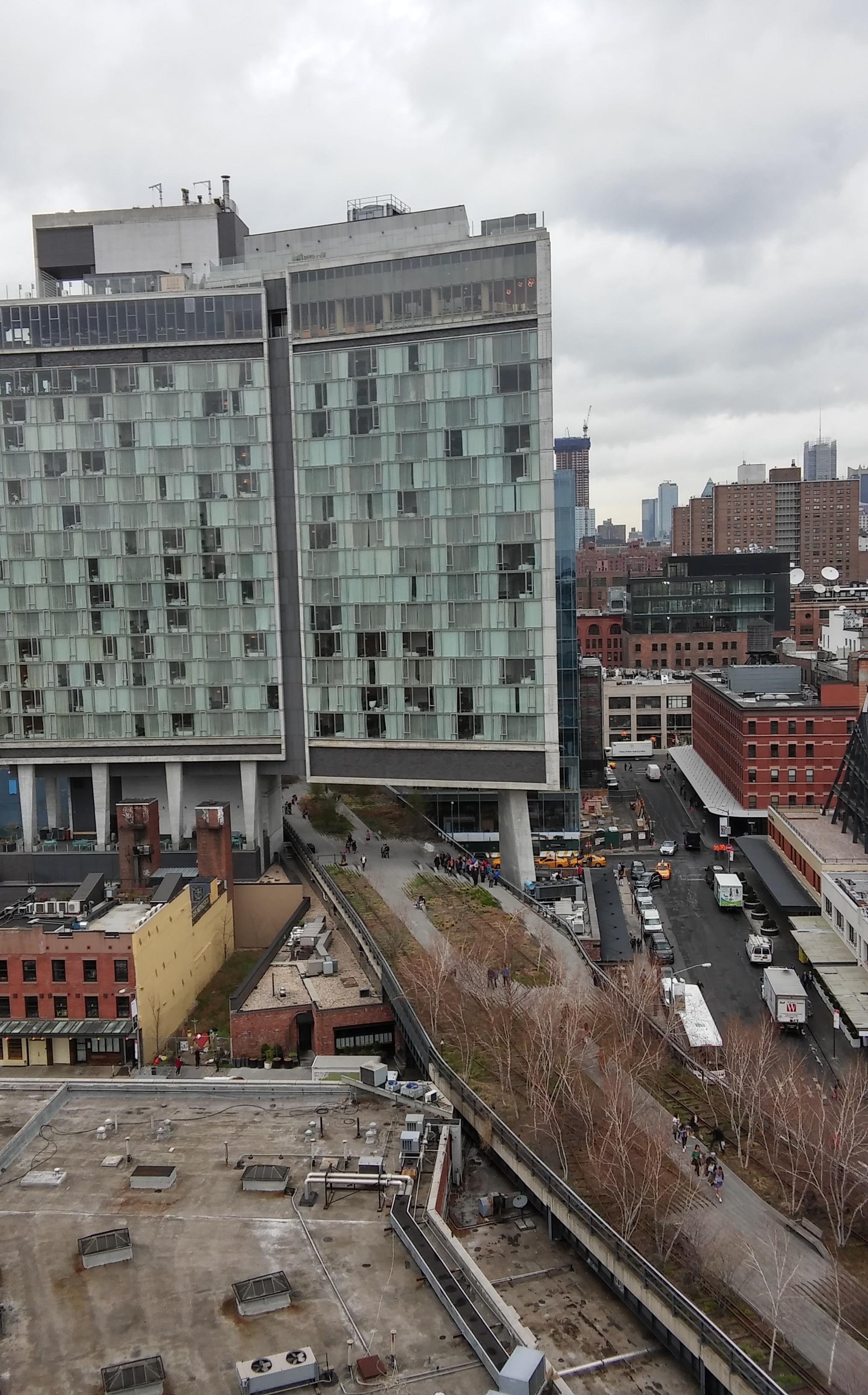 Overlooking the High Line and The Standard hotel from the Whitney.